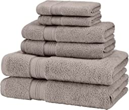Pinzon 6 Piece Pima Cotton Bath Towel Set - Platinum