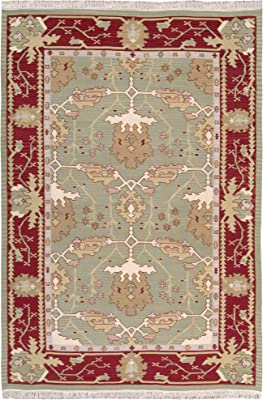 "Nourison Samarkand (PK12) Olive Rectangle Area Rug, 9-Feet 9-Inches by 13-Feet 9-Inches (9'9"" x 13'9"")"