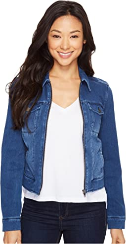 Denim Zip Jacket in Powerflex Knit Denim