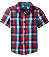 Lucky Brand Kids - Pier Short Sleeve Camp Shirt in Twill (Toddler)