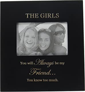 Infusion Gifts 3015-LB The Girls Engraved Photo Frames, Large, Black