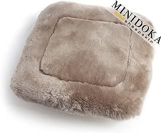 Desert Breeze Distributing Australian Sheepskin Seat Pad, Thick Short Wool, Natural Leather for Premium Fit, Non-Slip Backing, Tan, 20 x 20, Minidoka Sheepskin