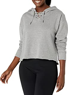 Starter womens Lace-up Cropped Hoodie