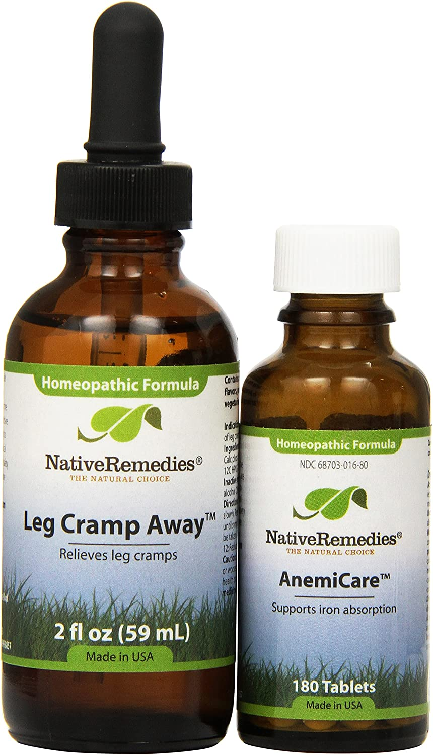 Selling and selling Native Remedies Leg Super popular specialty store Cramp ComboPack AnemiCare Away