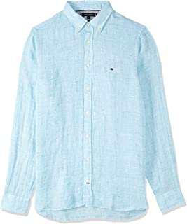 TOMMY HILFIGER Men's Slim Fit Linen Shirt