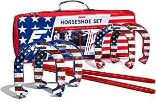 Best Franklin Sports Horseshoes Set - Includes 4 Horseshoes and 2 Stakes - Beach or Backyard Horseshoe Play - Classic Outdoor Game Reviews