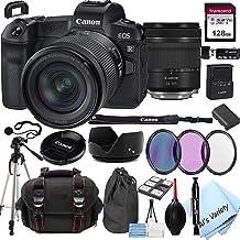 Canon EOS R Mirrorless Digital Camera with 24-105mm f/4-7.1 Lens Bundle + 128GB Memory + Case + Filters + Tripod (24pc Bun...