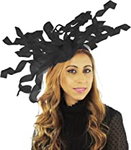 Hats By Cressida Ascot 501 Sinamay Curls Ascot Kentucky Derby Fascinator Hat with Headband