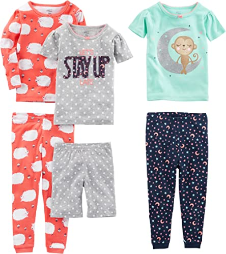 Hearts allover Bottoms 2-Piece PJ Set; White//Pink 3T Carters Girl L//S Love Top