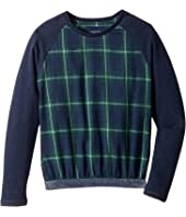 Toobydoo - Fancy Flannel Sweatshirt w/ Sparkle Belt (Toddler/Little Kids/Big Kids)