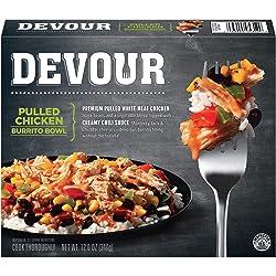 Devour Pulled Chicken Burrito Bowl Frozen Meal (12 oz Box)