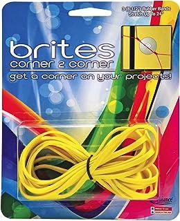"Alliance Rubber 07869 Brites Corner-to-Corner Non Latex Rubber Bands, 3 Pack (8 1/2"", Bright Yellow)"