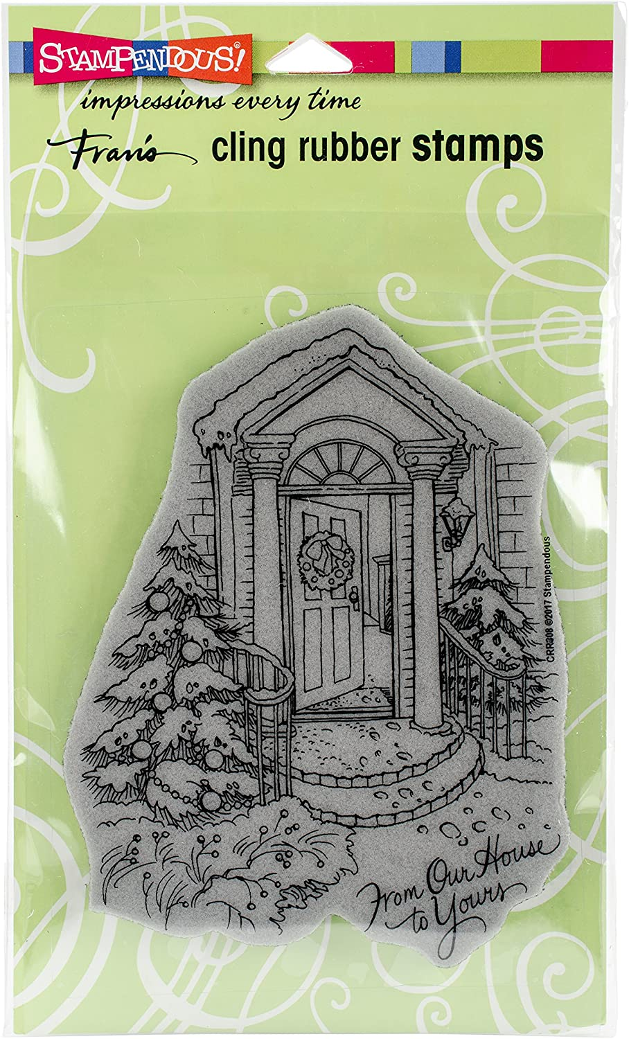 STAMPENDOUS Our Our Doorstep Cling Rubber Stamp