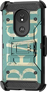 TurtleArmor | Compatible with Motorola Moto G7 Power Case | Moto G7 Supra Case [Armor Pro] Full Body Armor Cover Stand Rugged Hybrid Holster Belt Clip Case Ocean Beach - Beach Logo