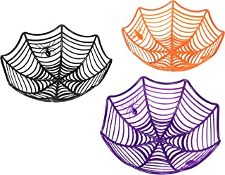 SALE - 3 Large Spider Web Plastic Basket Bowls for Halloween Parties