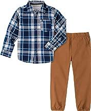 Calvin Klein Boys' 2 Pieces Shirt Pants Set