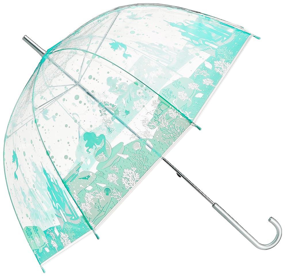 配置小間単独でキャラクター 傘 リトルマーメイド アリエル 大人 ビニール傘 60cm 32401