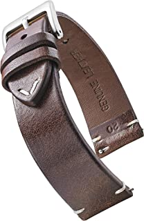 Genuine Vintage Leather Watch Strap with Quick Release Spring Bars - Watch Band Colors Black, Bown, Tan - 18, 20, 22, 24 mm