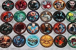 Geocache Swag Bottle Cap Coins - Comic Book Character Hero's