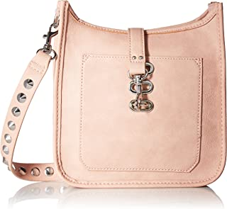 HANDBAG, WYLIE, WOMEN NON LEATHER CROSSBODY WITH FUNCTIONAL OUTSIDE POCKET AND SHOULDER STRAP WITH STUDS