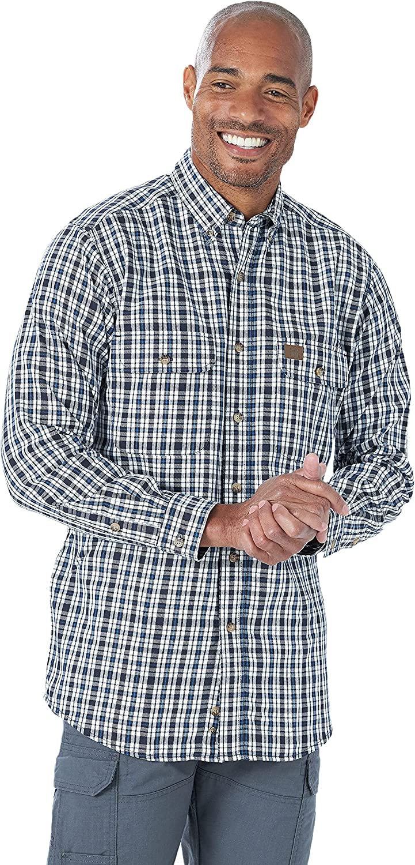 Wrangler Riggs Workwear Men's Long Sleeve Foreman Plaid Workshirt