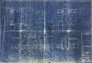 Frank Lloyd Wright - American Architect Original Vintage Fallingwater Blueprint