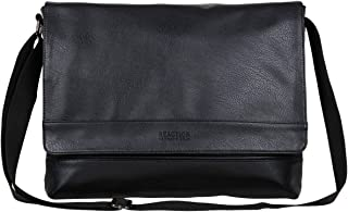 Kenneth Cole Reaction Grand Central Vegan Leather Laptop & Tablet Crossbody Travel Messenger Bag