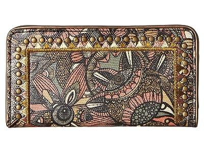 Sakroots Artist Circle Slim Wallet (Sienna Spirit Desert) Wallet Handbags