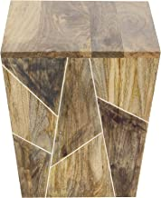 "Deco 79 Wood Side 15"" W, 17"" H Table, brown"