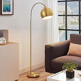 Lindby Lampadaire LED 'Moisia' en Doré en Métal e. a. pour Salon & Salle à manger (1 lampe,à E27) | Lampadaire Sur Pied, L...