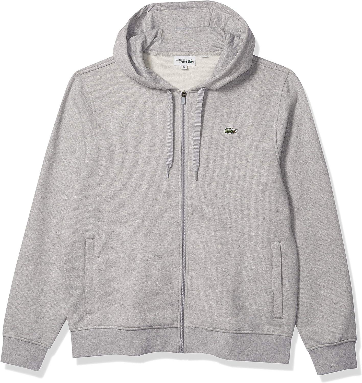 Lacoste Ranking TOP5 Mens Sport Long Sleeve Fleece Full OFFicial shop Hoodie Sweatshirt Zip