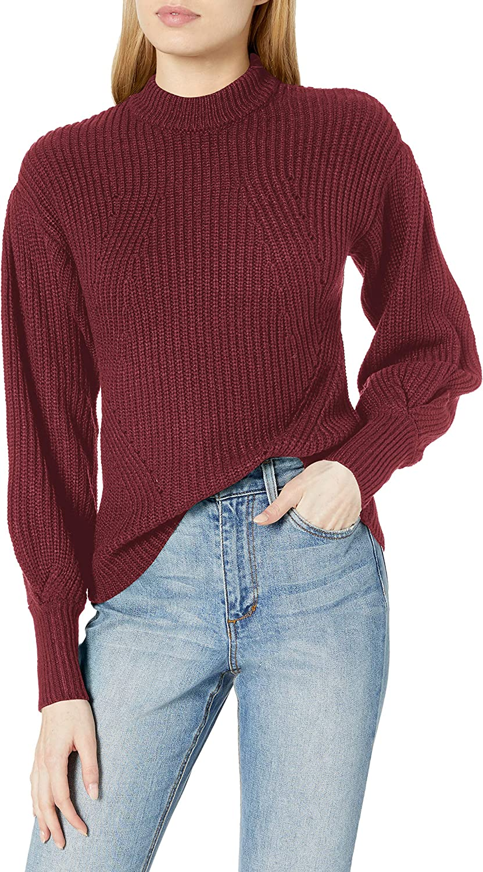 Jessica Simpson Women's Addison Puff Long Sleeve Pullover Sweater