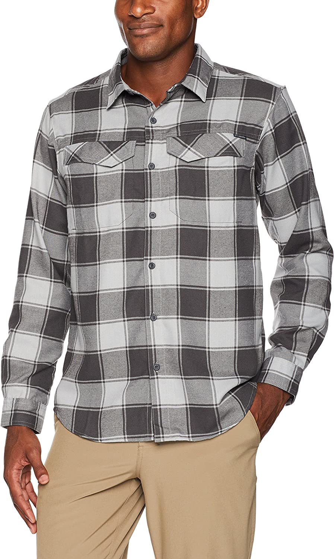 Columbia Men's Overseas parallel import regular item Silver Recommendation Ridge Sleeve Long Flannel Shirt