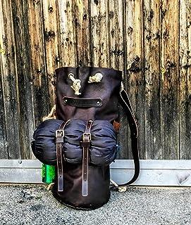 Borsone da Campeggio in Vera Pelle Fatto a mano artigianale camping zaino borsa cuoio sacco Uomo borsa The Westlands Pelle...