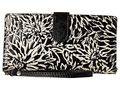Patricia Nash Sunflower Tooling Valentia II Wristlet (Sunflower/Black/White) Wallet Handbags