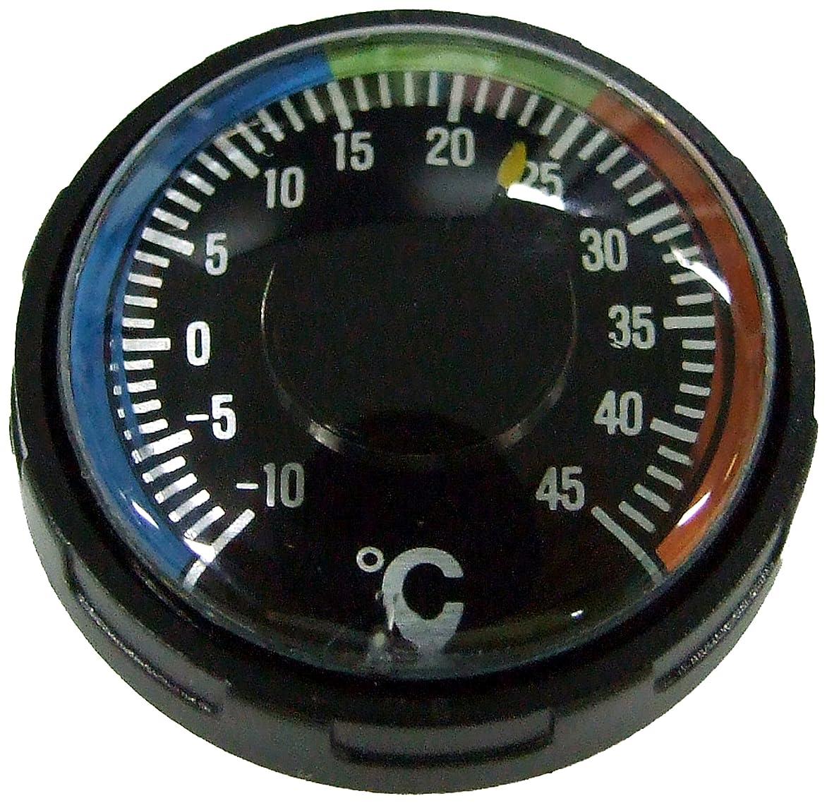 バーマドまぶしさ救援YCM 温度計 ダイバーサーモメーター オイル式 20気圧防水 ブラック NO60D