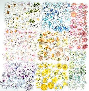 360 autocollants de fleur PC autocollant floral assorti coloré, 8 autocollants de décalcomanie de style autocollants de pa...