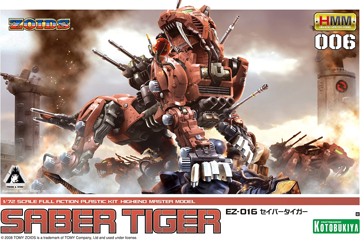 Zoids HMM-006 Saber Tiger 72 1 Colorado Springs Mall Popularity Scale