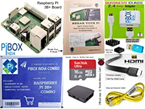 Raspberry Pi 3B+/3B Plus Motherboard Combo - PiBOX India Variation (PiBOX - Essential Combo Black 3215BK)