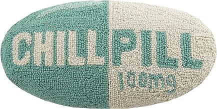 Peking Handicraft Chill Pill Hook Pillow, Turquoise