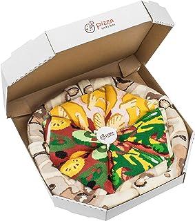 Rainbow Socks - Pizza MIX Italiana Hawaiana Vegetariana Mujer Hombre - 4 pares de Calcetines