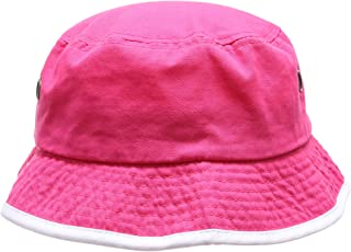 18155d1a793 MIRMARU Summer Adventure Foldable 100% Cotton Stone-Washed Bucket Hat with  Trim.