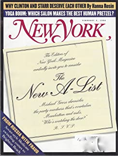 New York Magazine February 2, 1998, Vol. 31, N° 4:The New A-List, Why Clinton and Starr Deserve Each Other, Yoga Boom, & other articles