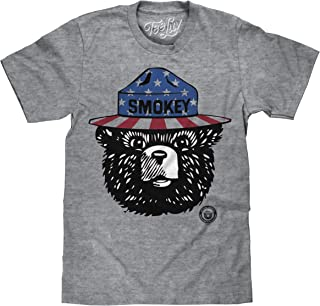 Smokey The Bear T-Shirt - Patriotic Smokey Bear Stars 'n' Stripes Shirt