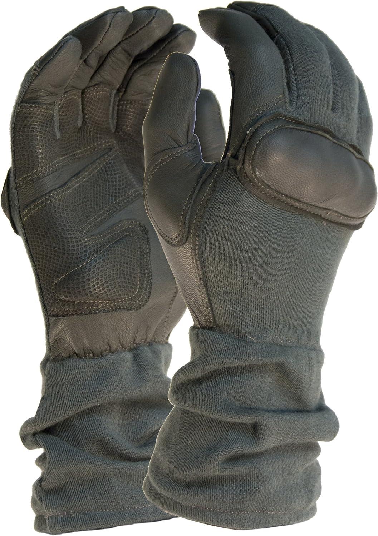 A.C. Kerman - LE HWI Gear Long Gauntlet Hard Knuckle Glove, X-Small, Foliage Green