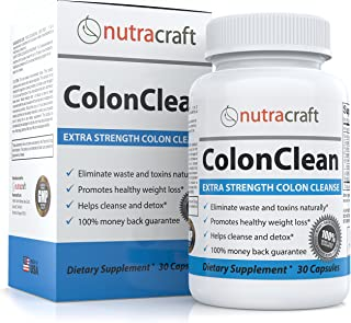 #1 Herbal Colon Detox and Laxative Supplement for Weight Loss and Constipation Relief - Advanced Natural Intestinal and Bowel Sweep with Senna, Cascara Sagrada, Aloe and Probiotics - 30 Capsules