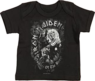 Iron Maiden Boys' Number of The Beast Childrens T-Shirt Black