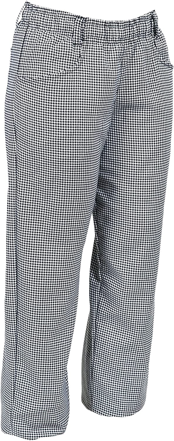 Mercer Culinary M60040HTS Millennia Women's Chef Pants in Hounds Tooth, Small, Black/White : Clothing, Shoes & Jewelry