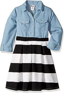 Girls' Denim Chambray Shirt Dress