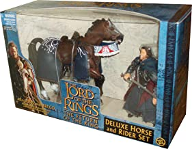 ToyBiz Year 2003 The Lord of the Rings Movie Series The Return of the King Deluxe Horse and Rider Set - Aragorn with Sword...